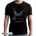 ABYTEX462 - STAR WARS THE LAST JEDI - T-SHIRT TIE SILENCER BLACK XL