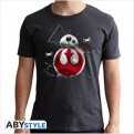 ABYTEX463 - STAR WARS THE LAST JEDI - T-SHIRT BB8 GREY XXL