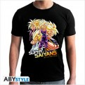 ABYTEX465XXL - T-SHIRT - DRAGON BALL Z - SAIYANS - XXL