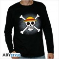 ABYTEX483 - T-SHIRT ONE PIECE MANICA LUNGA - SKULL WITH MAP BLACK - XL