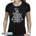 ABYTEX562S - HARRY POTTER - T-SHIRT DONNA - DEATHLY HALLOWS - S