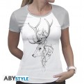 ABYTEX564XL - HARRY POTTER - T-SHIRT DONNA - PATRONUS - XL