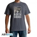 ABYTEX611L - T-SHIRT UOMO - GAME OF THRONES - THE NORTH REMEMBERS L
