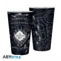 ABYVER130 - HARRY POTTER - BICCHIERE 400ML DI VETRO MARAUDER'S MAP