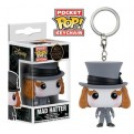 ALICE THROUGH THE GLASS - POP FUNKO VINYL KEYCHAIN MAD HATTER 4 CM