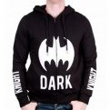 BATMAN - SW019 - FELPA ZIP E CAPPUCCIO DARK KNIGHT LOGO S
