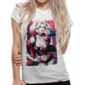 BATMAN - T-SHIRT DONNA - HARLEY KISS - XL