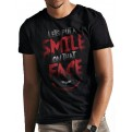 BATMAN - THE DARK KNIGHT TRILOGY - T-SHIRT - THE DARK KNIGHT TRILOGY - SMILE QUOTE - L