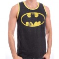 BATMAN - TK003 - TANK TOP UOMO LOGO ANTHRACITE S
