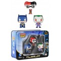 BATMAN POCKET POP! - 3 PACK TIN 04 - BATMAN HARLEY QUINN THE JOKER 4 CM