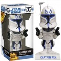 BOBFUN270 - STAR WARS - BOBBLE HEAD FUNKO FORCE CLONE WARS CAPTAIN REX 17 CM