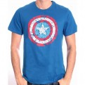 CAPTAIN AMERICA - TS013 - T-SHIRT COLLAGE LOGO L