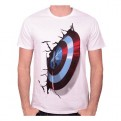 CAPTAIN AMERICA - TS031 - T-SHIRT CAPTAIN SHIELD ON WALL L