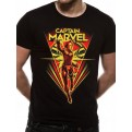 CAPTAIN MARVEL - T-SHIRT - FLYING V - L