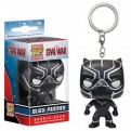CIVIL WAR - POP FUNKO VINYL KEYCHAIN BLACK PANTHER 4 CM