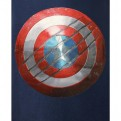 CIVIL WAR - TS002 - T-SHIRT CAPTAIN AMERICA BLUE MARINE L