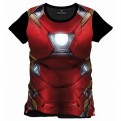 CIVIL WAR - TS010 - T-SHIRT IRON MAN SUBLIMATION CHEST L