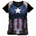 CIVIL WAR - TS011 - T-SHIRT CAPTAIN AMERICA SUBLIMATION CAP CHEST XL