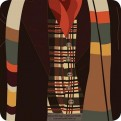 CST1DW04 - DOCTOR WHO - COASTER SINGLE - DOCTOR WHO (4TH DOCTOR)