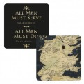 CST1GT06 - GAME OF THRONES - COASTER LENTICULAR - GAME OF THRONES (ALL MEN MUST SERVE)