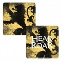 CST1GT09 - GAME OF THRONES - COASTER LENTICULAR - GAME OF THRONES (LANNISTER)