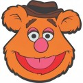 CST1MP04 - MUPPETS - COASTER SHAPED PVC - MUPPETS (FOZZIE)