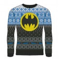 DC COMICS - KNITTED JUMPER - BATMAN YELLOW LOGO M
