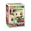 DC COMICS: HOLIDAY - POP FUNKO VINYL FIGURE 357 HARLEY QUINN W/ HELPER 9CM