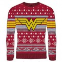 DC WONDER WOMAN - KNITTED JUMPER - LOGO STAR XL