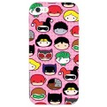 DCHIBI04 - COVER IPHONE 6-6S DC SUPERHERO'S FACES OPACA