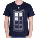 DOCTOR WHO - TS001 - T-SHIRT TARDIS DRAW L