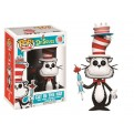 DR. SEUSS - POP FUNKO VINYL FIGURE 10 CAT IN THE HAT WITH CAKE & UMBRELLA 9CM