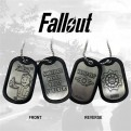 FALLOUT - METAL DOG TAGS - SURFACE NEVER VAULT FOREVER