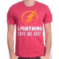 FLASH TV - TS004 - T-SHIRT LIGHTNING GAVE ME ABS? L