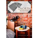 GAME OF THRONES - TEMPERED GLASS POSTER - THE NORTH REMEMBERS