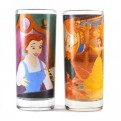 GL02DF05 - BEAUTY & THE BEAST - GLASSES SET OF 2 - BEAUTY & THE BEAST (BE OUR GUEST)