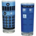 GL02DW01 - DOCTOR WHO - GLASSES SET OF 2 - DOCTOR WHO (DALEK AND TARDIS)