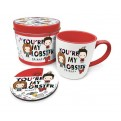 GP85472 - FRIENDS - TAZZA CON SOTTOBICCHIERE - YOU'RE MY LOBSTER (CHIBI)
