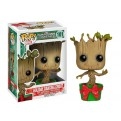 GUARDIANI DELLA GALASSIA - POP FUNKO VINYL FIGURE 101 HOLIDAY DANCING GROOT 10 CM