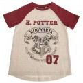 HARRY POTTER - SHORT SLEEVE BASEBALL SHIRT - HOGWARTS CREST 7-8 YEARS