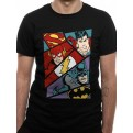 JUSTICE LEAGUE - T-SHIRT - HEROES POP ART - XXL