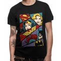 JUSTICE LEAGUE - T-SHIRT - HEROINE POP ART - XXL