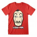 LA CASA DI CARTA - T-SHIRT - MASK AND LOGO XXL