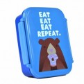 LBOX1JA01 - JOLLY AWESOME - LUNCH BOX SQUARE JOLLY AWESOME (EAT REPEAT)