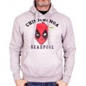 MARVEL - SW044 - FELPA CON CAPPUCCIO DEADPOOL DP XL