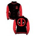 MARVEL - TD001 - BASEBALL VARSITY JACKET DEADPOOL LOGO L