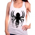 MARVEL - TK001 - TANK TOP DONNA SPIDERMAN LOGO ARAIGNEE L