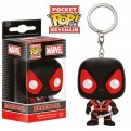 MARVEL COMICS - POP FUNKO VINYL KEYCHAIN BLACK DEADPOOL 4 CM