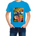 MARVEL COMICS - T-SHIRT BAMBINO CAPTAIN AMERICA COVER 7-8 ANNI