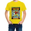 MARVEL COMICS - T-SHIRT BAMBINO IRON MAN COVER 3-4 ANNI
